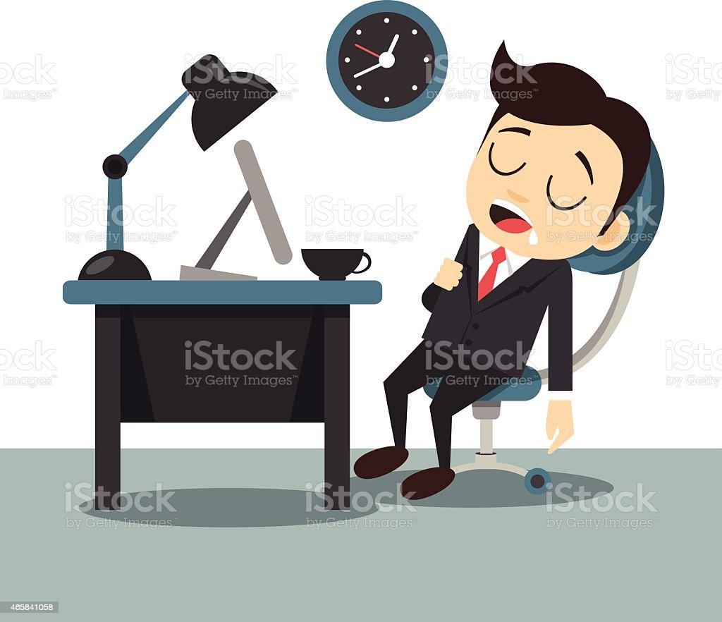 Vector flat sleeping businessman illustration vector art illustration