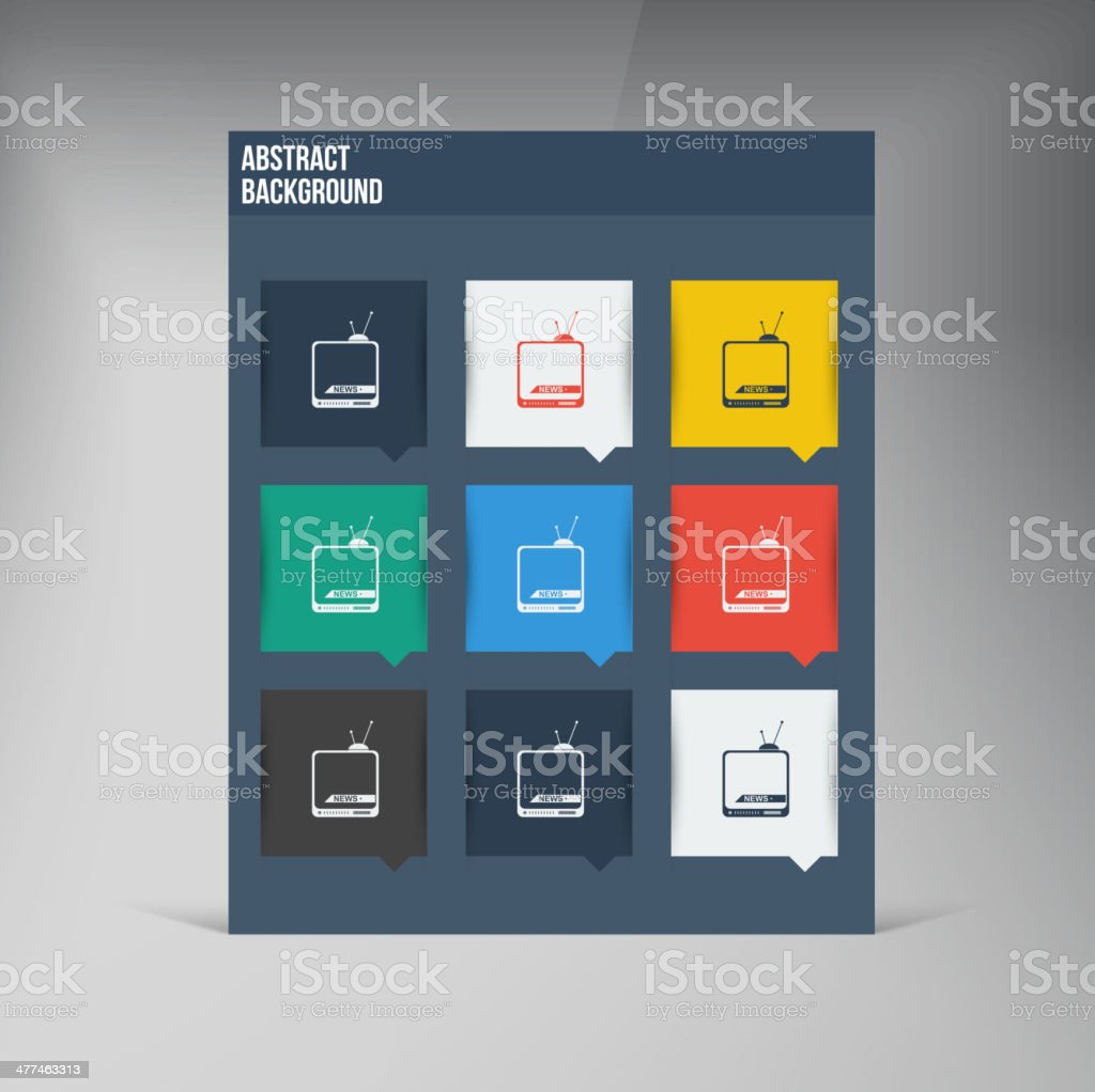 Vector flat UI design trend icons. royalty-free stock vector art
