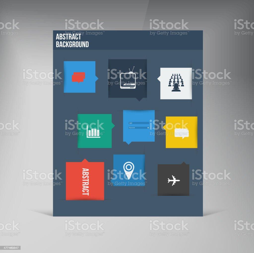 Vector flat UI design trend icons. royalty-free stock vector art