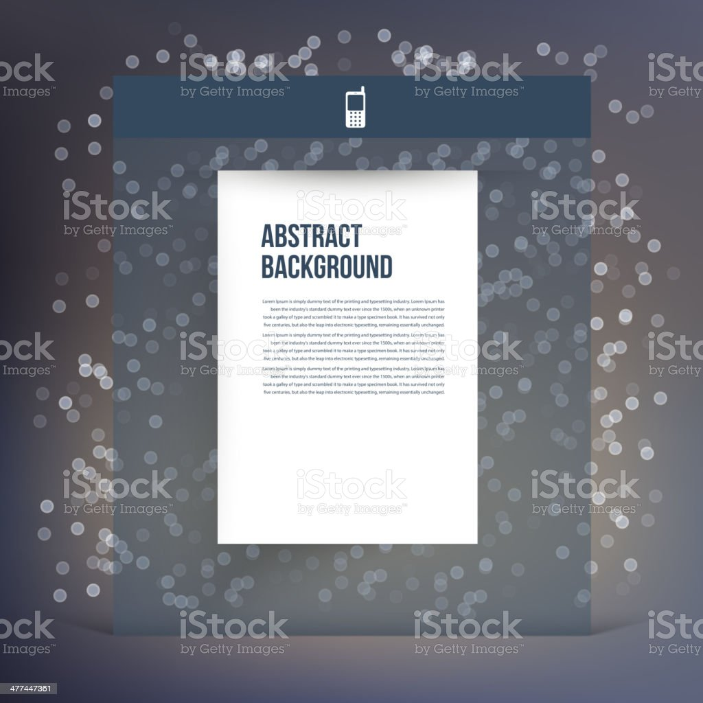 Vector flat UI design trend interface royalty-free stock vector art