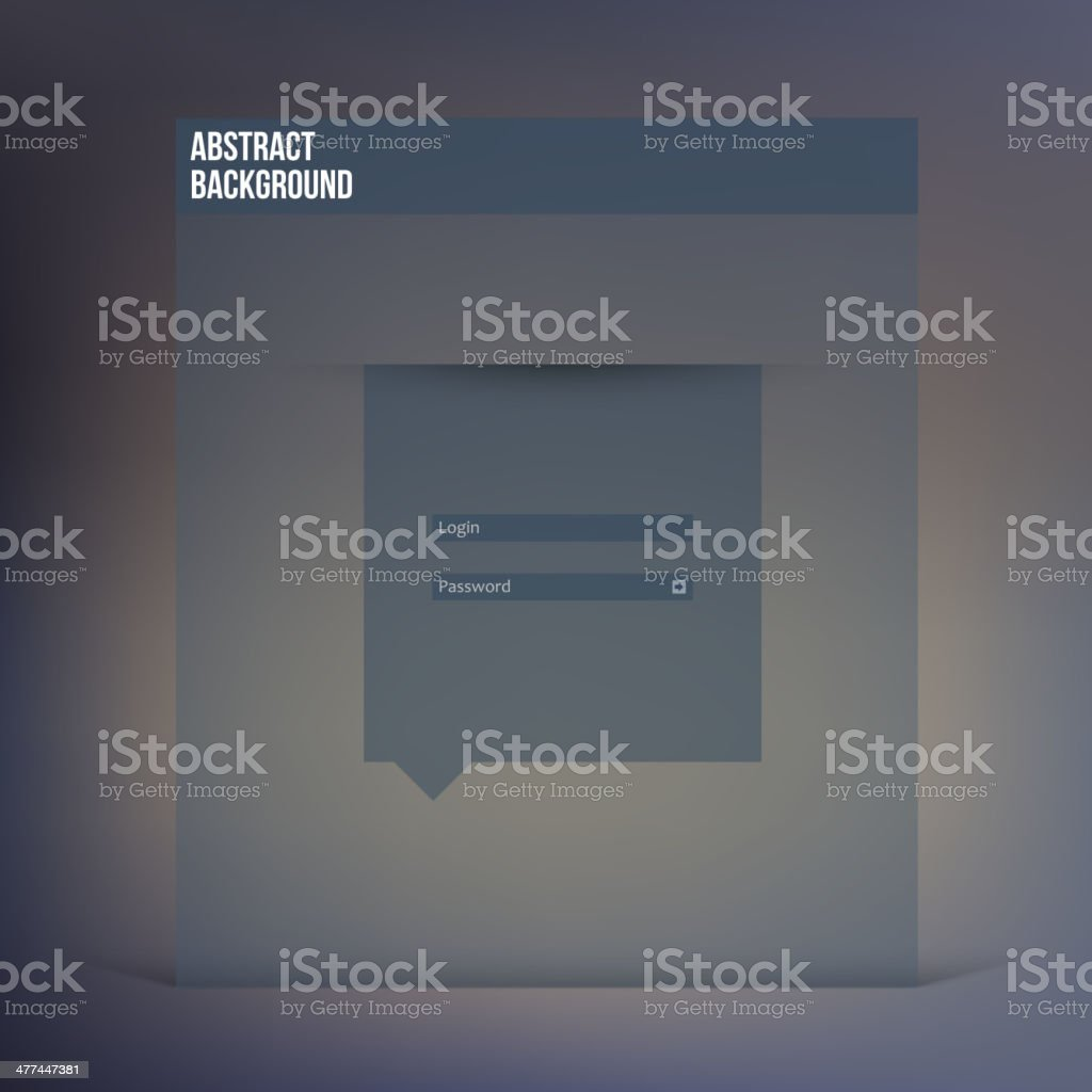Vector flat UI design trend interface royalty-free stock vector art
