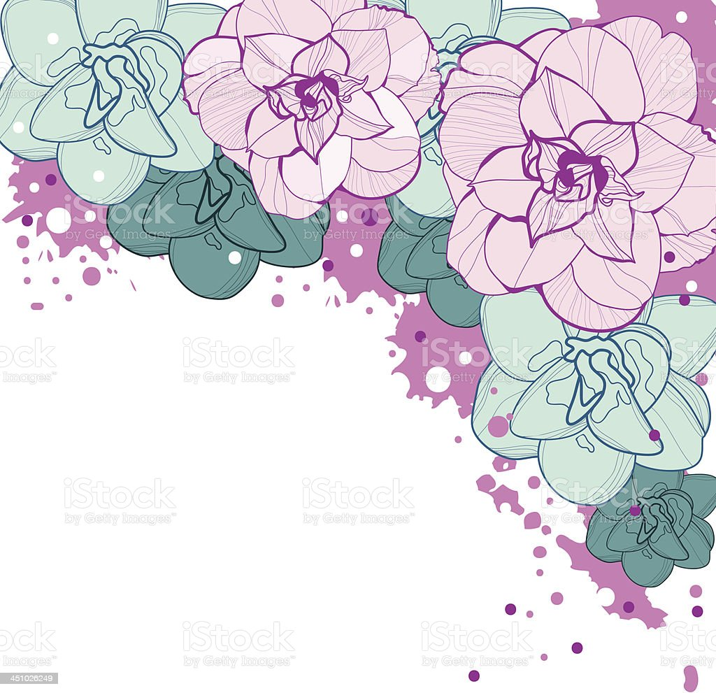 Vector floral background. design Element royalty-free stock vector art