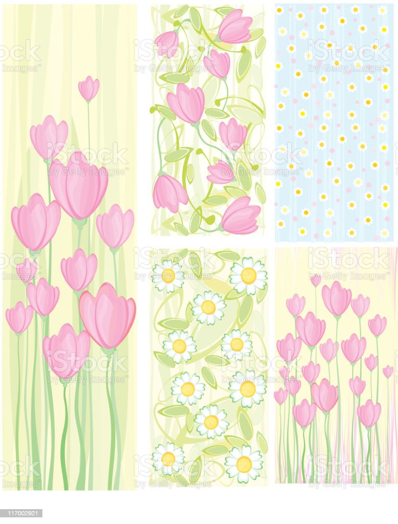Vector floral backgrounds. royalty-free stock vector art