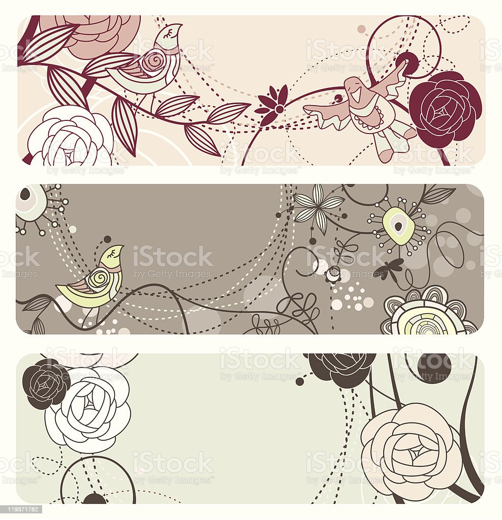 vector floral backgrounds royalty-free stock vector art