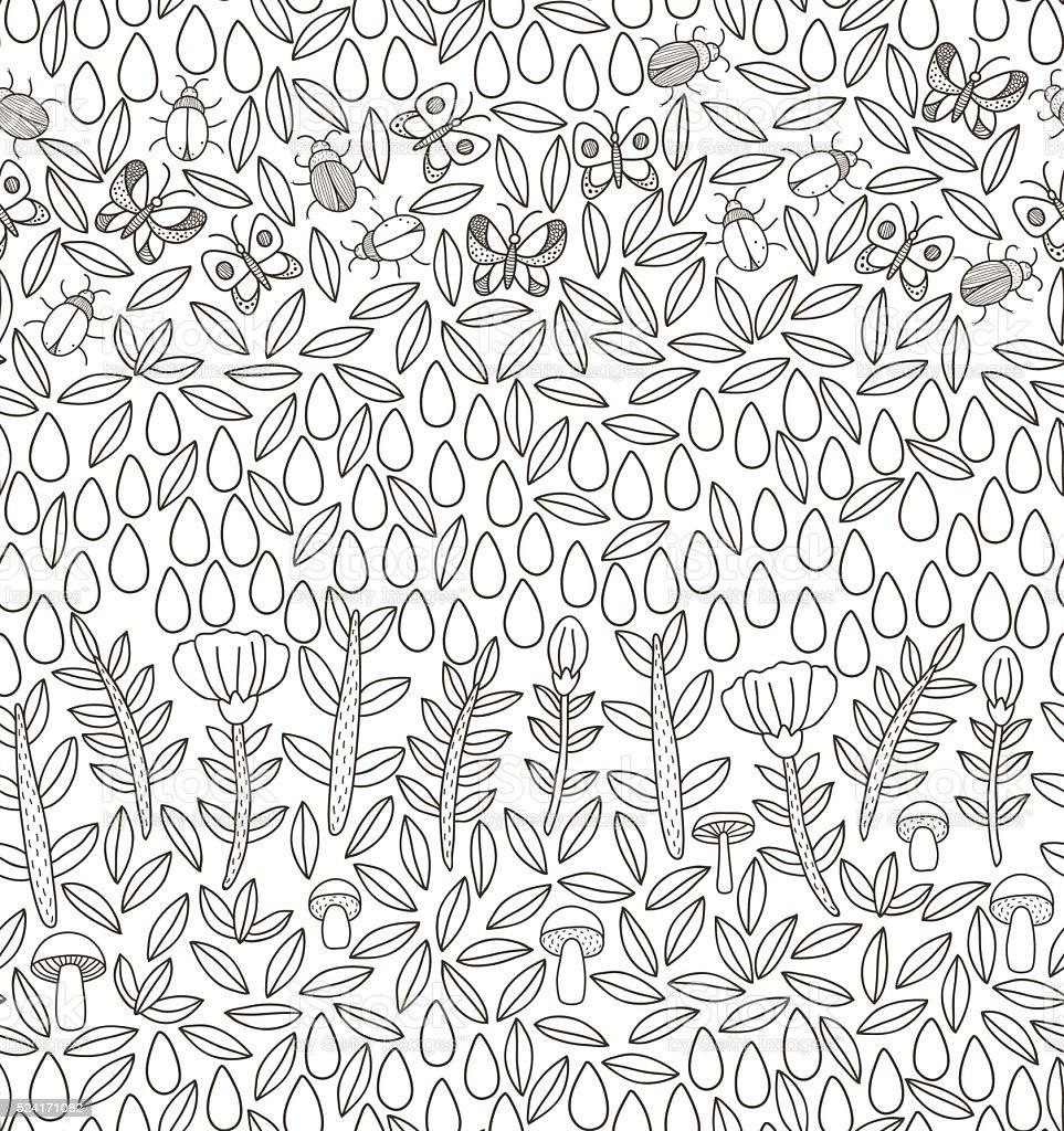 vector floral pattern vector art illustration