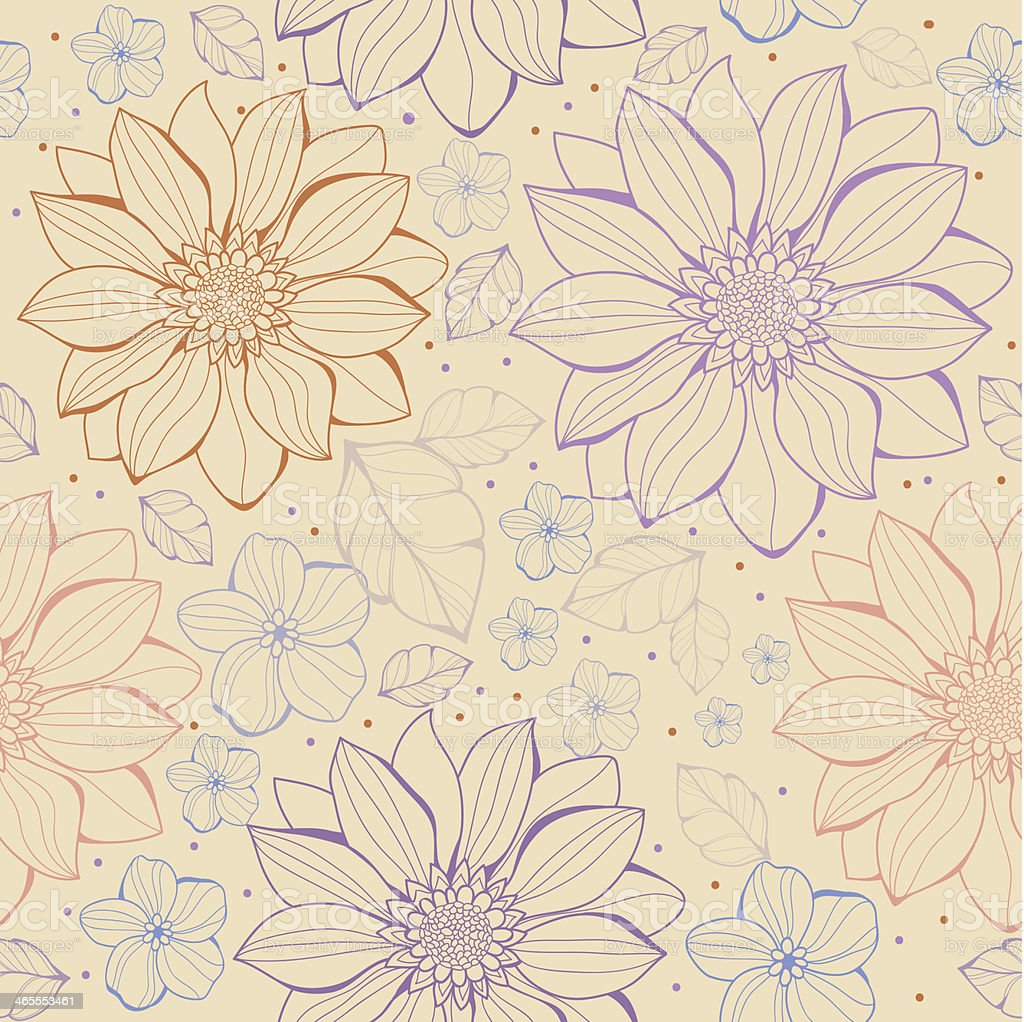 Vector floral seamless pattern royalty-free stock vector art