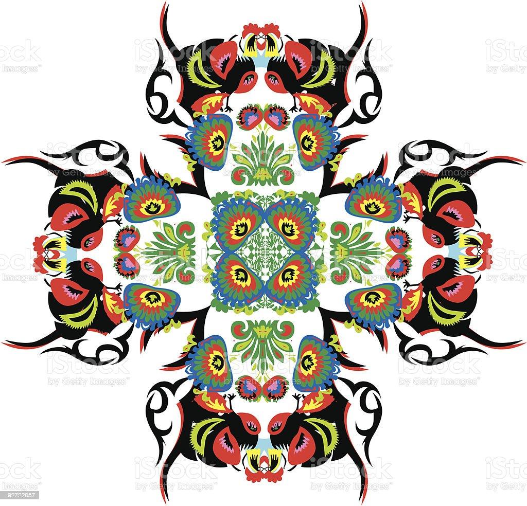 Vector floral/fauna motif royalty-free stock vector art