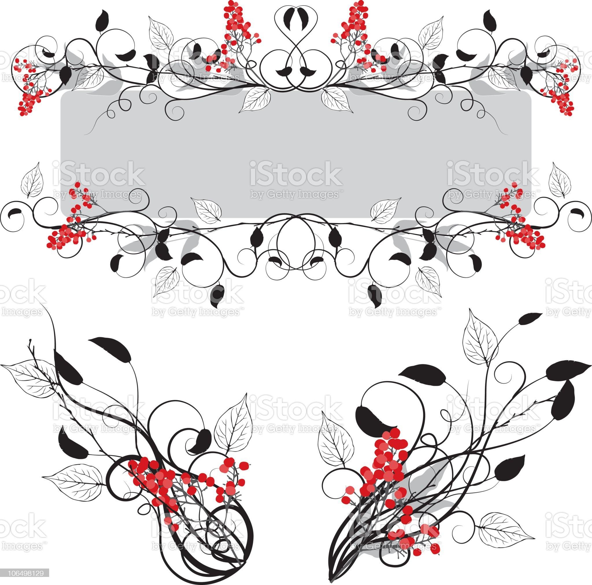 Vector Flourish Ornaments royalty-free stock vector art