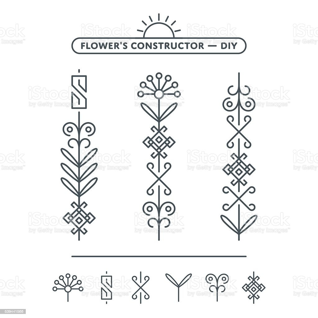 Vector Flower Illustration vector art illustration