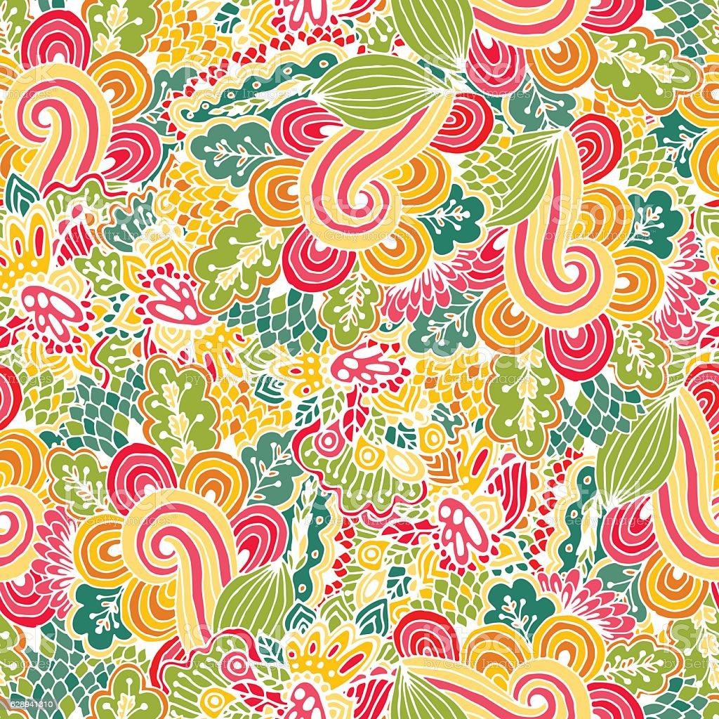 Vector flower pattern. Seamless botanic texture. royalty-free stock vector art