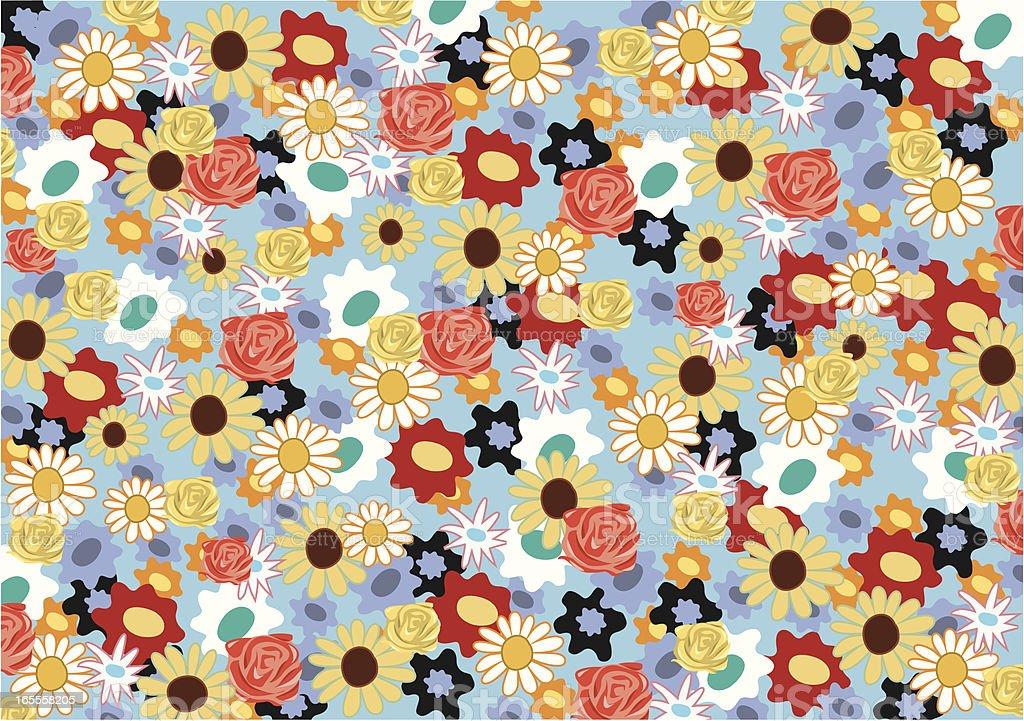Vector Flower Power Background royalty-free stock vector art