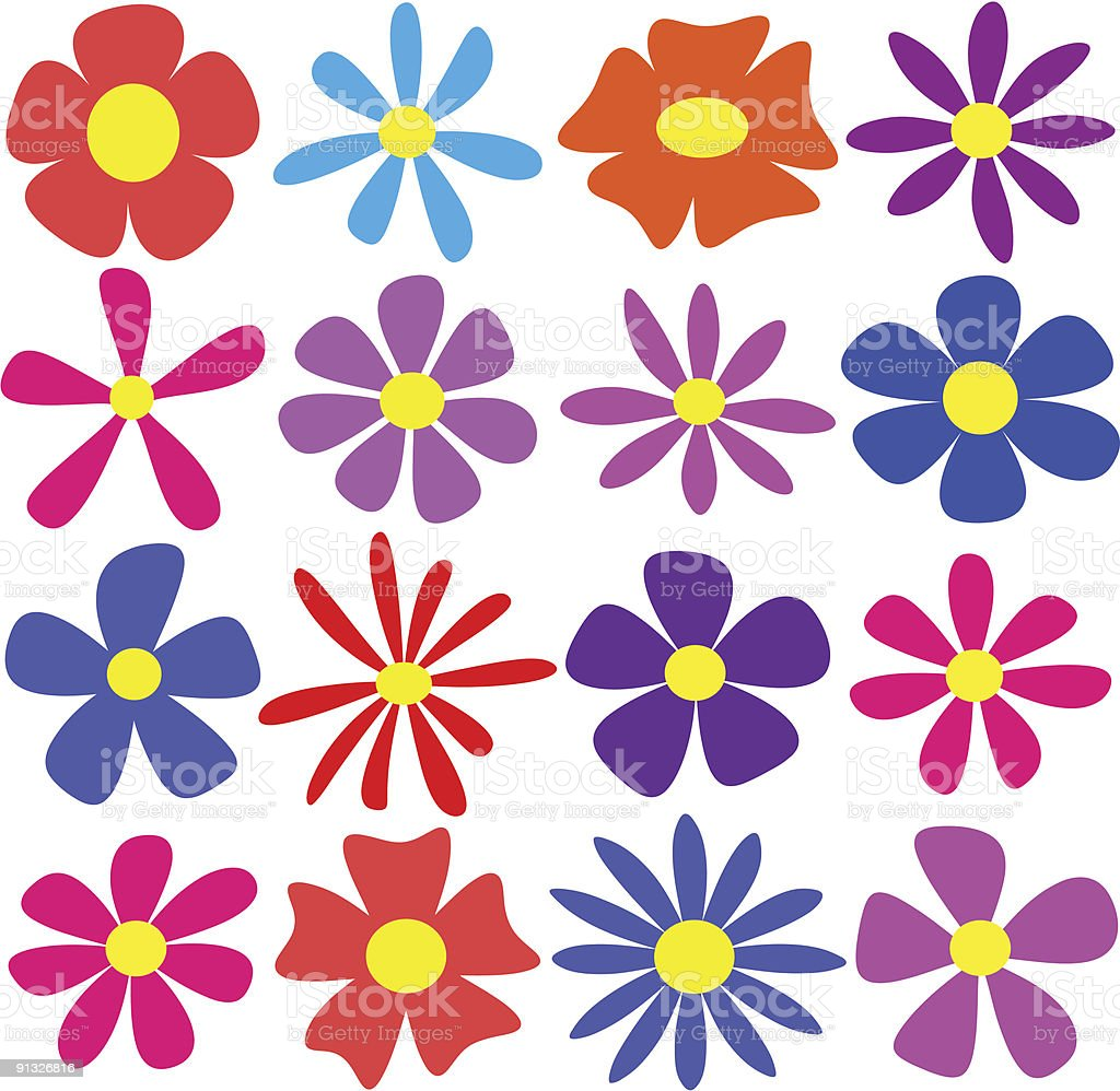 Vector Flowers royalty-free stock vector art