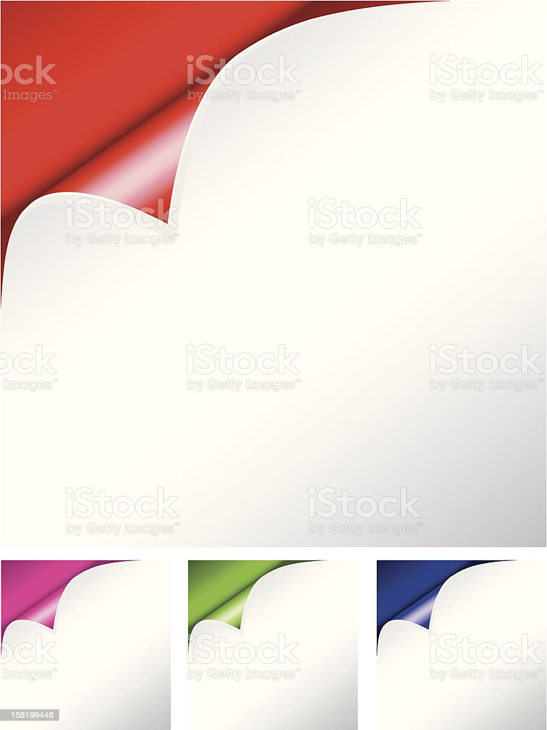vector folded paper royalty-free stock vector art