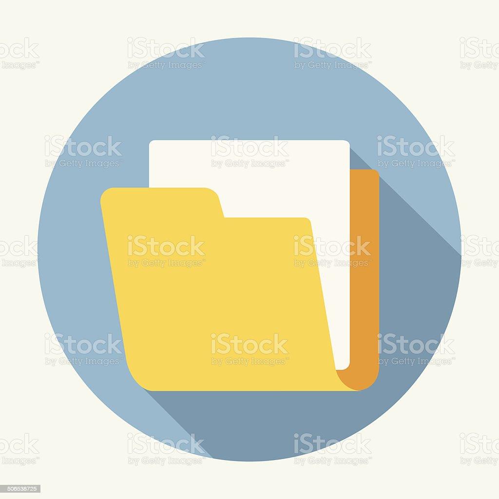 Vector folder icon vector art illustration