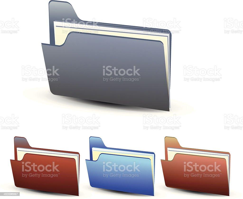 Vector folder icons royalty-free stock vector art