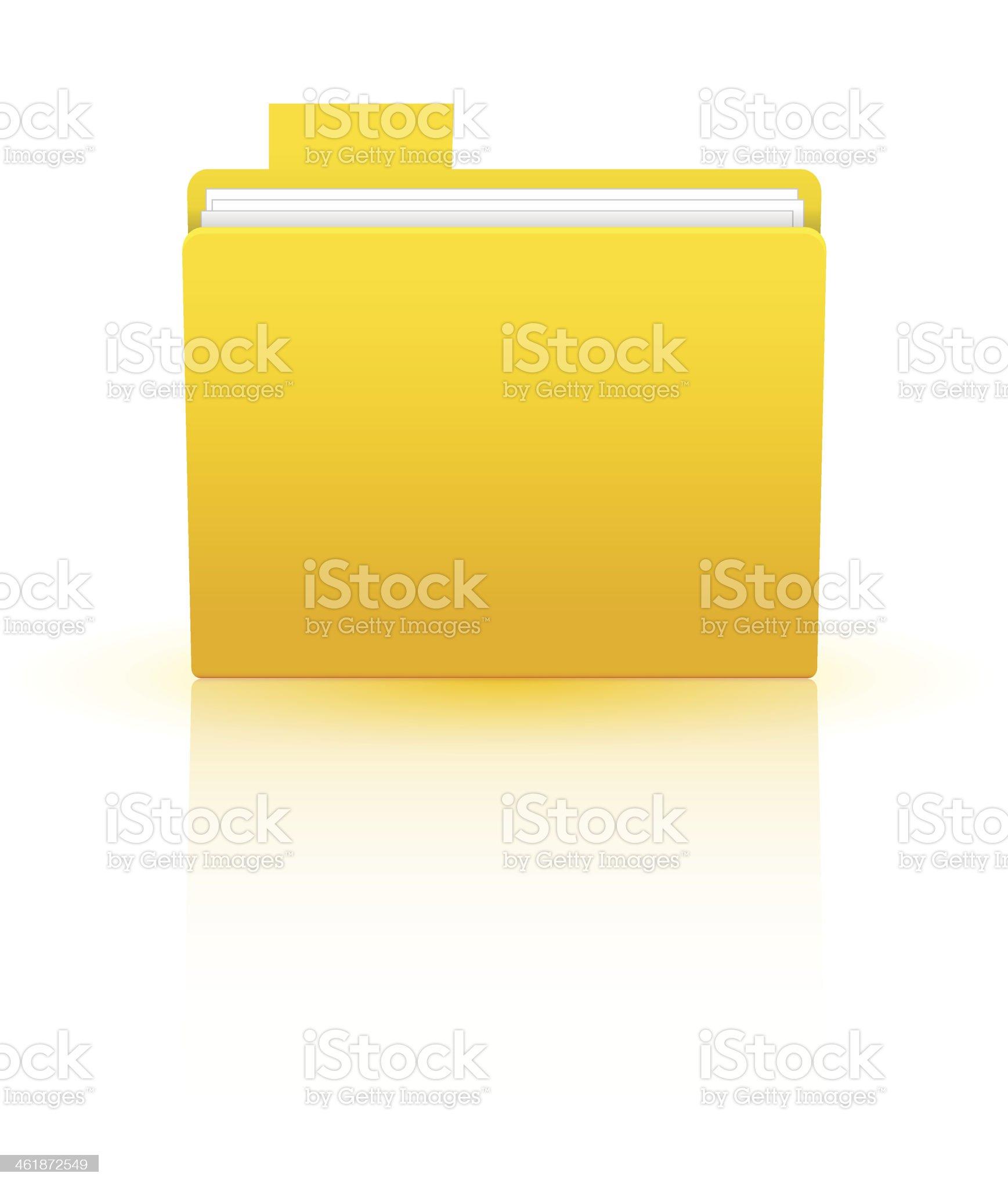 Vector folder isolated on white royalty-free stock vector art