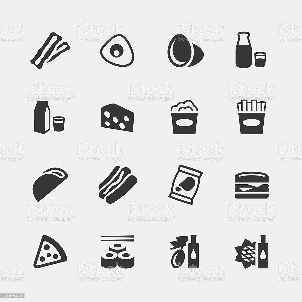 Vector food mini icons set #2 vector art illustration