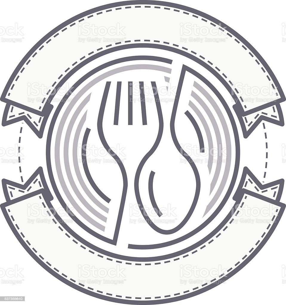 Vector food service logo vector art illustration