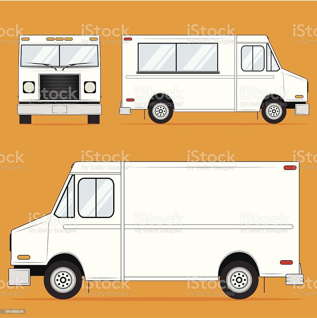 Vector Food Truck Template vector art illustration