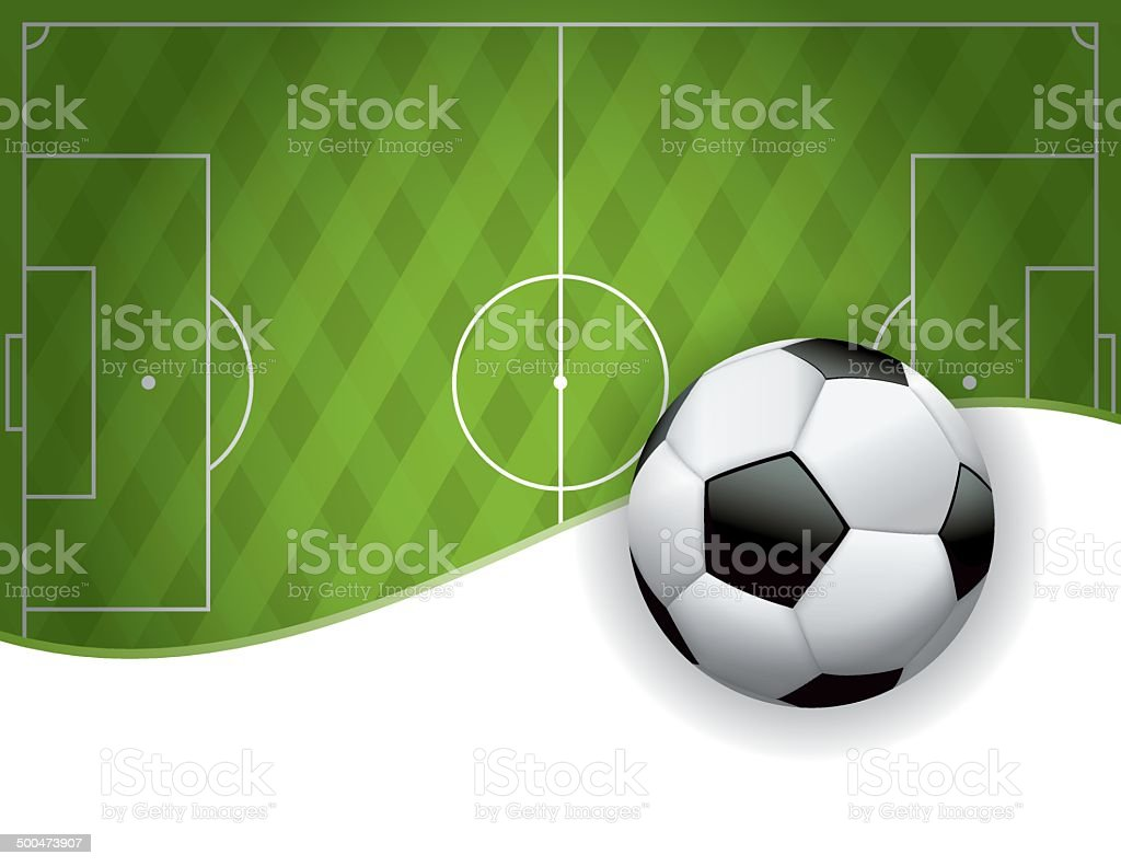 Vector Football American Soccer Field and Ball Background vector art illustration