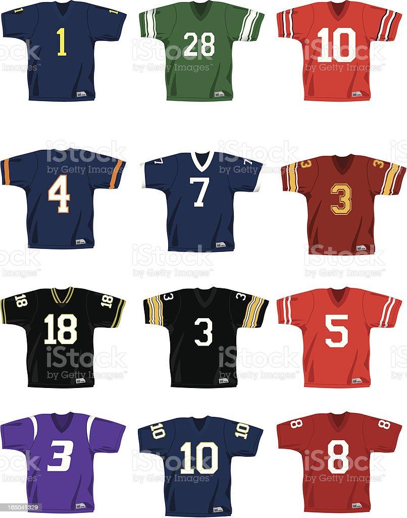 Vector Football Jerseys royalty-free stock vector art