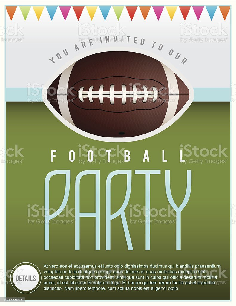 Vector Football Party Flyer Illustration vector art illustration