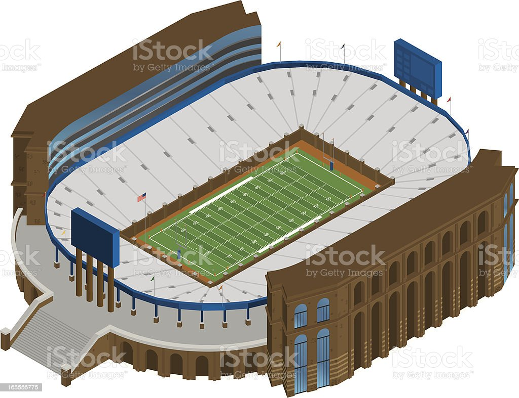 Vector Football Stadium royalty-free stock vector art