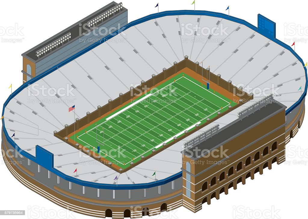 Vector Football Stadium vector art illustration