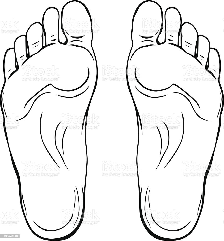 Vector Footstep vector art illustration