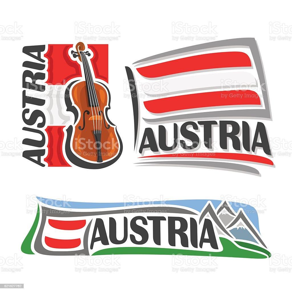 Vector for Austria vector art illustration