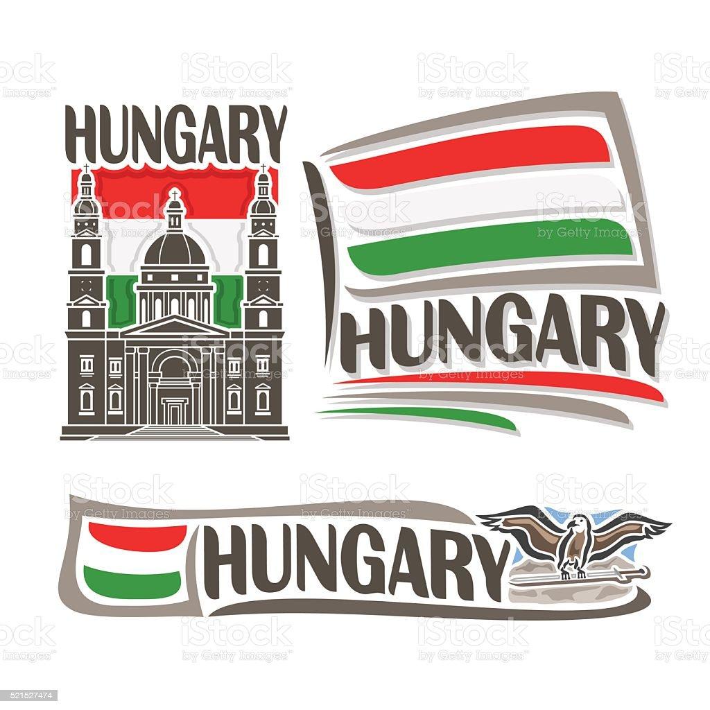 Vector for Hungary vector art illustration