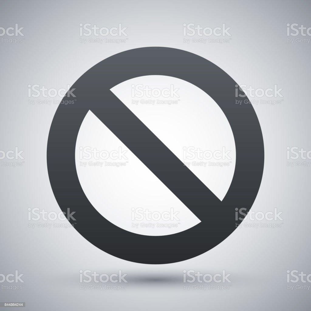 Vector forbidden sign icon vector art illustration