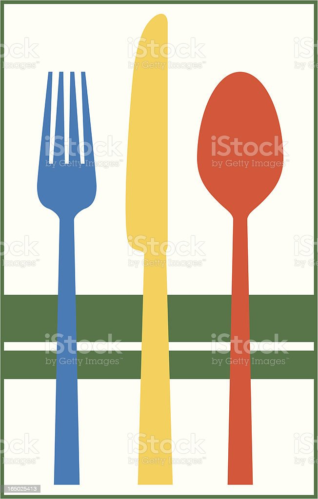 vector - fork_knife_spoon #3 royalty-free stock vector art