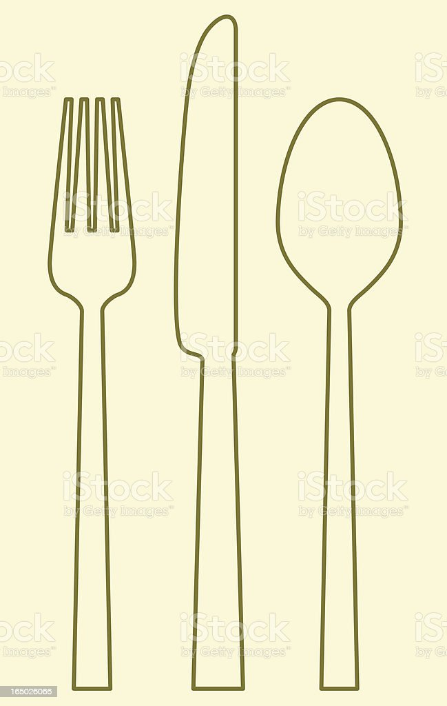 vector - fork_knife_spoon royalty-free stock vector art