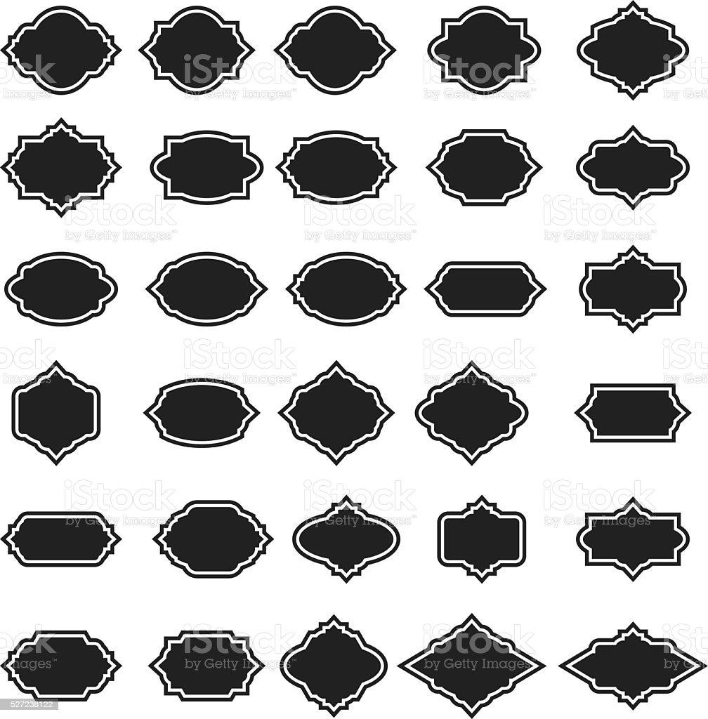 Vector frame set vector art illustration