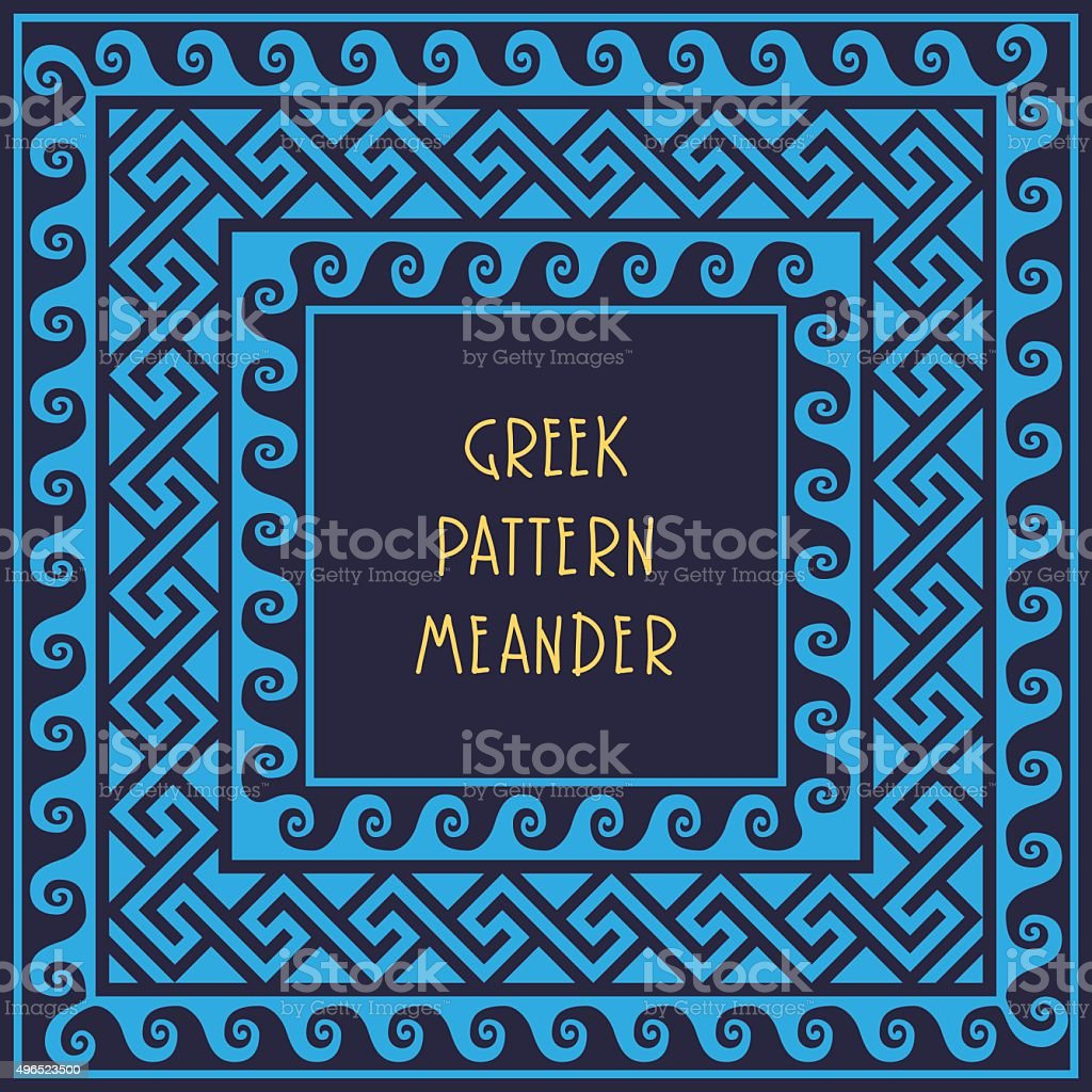 vector Frame with Greek ornament Meander vector art illustration