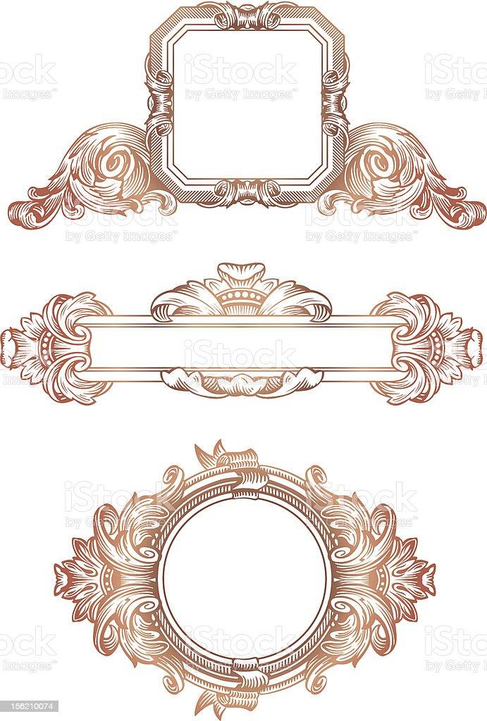 Vector frames vector art illustration