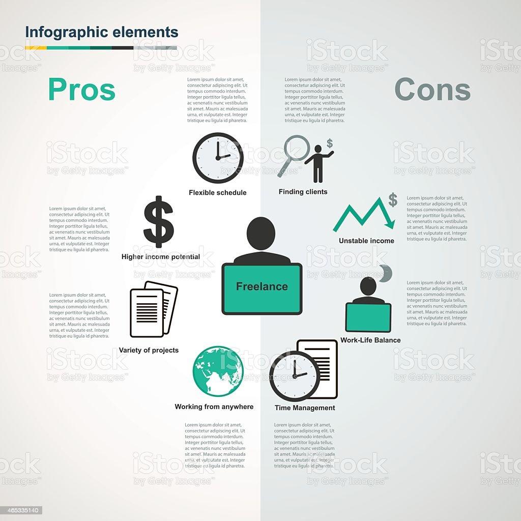 Vector freelance infographic elements vector art illustration