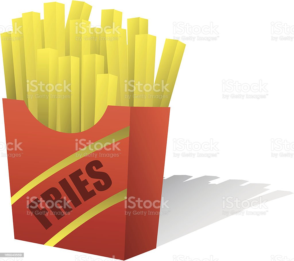 Vector French Fries royalty-free stock vector art