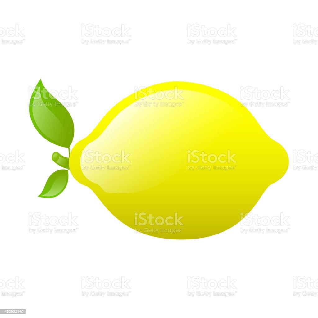 Vector Fresh Lemon vector art illustration