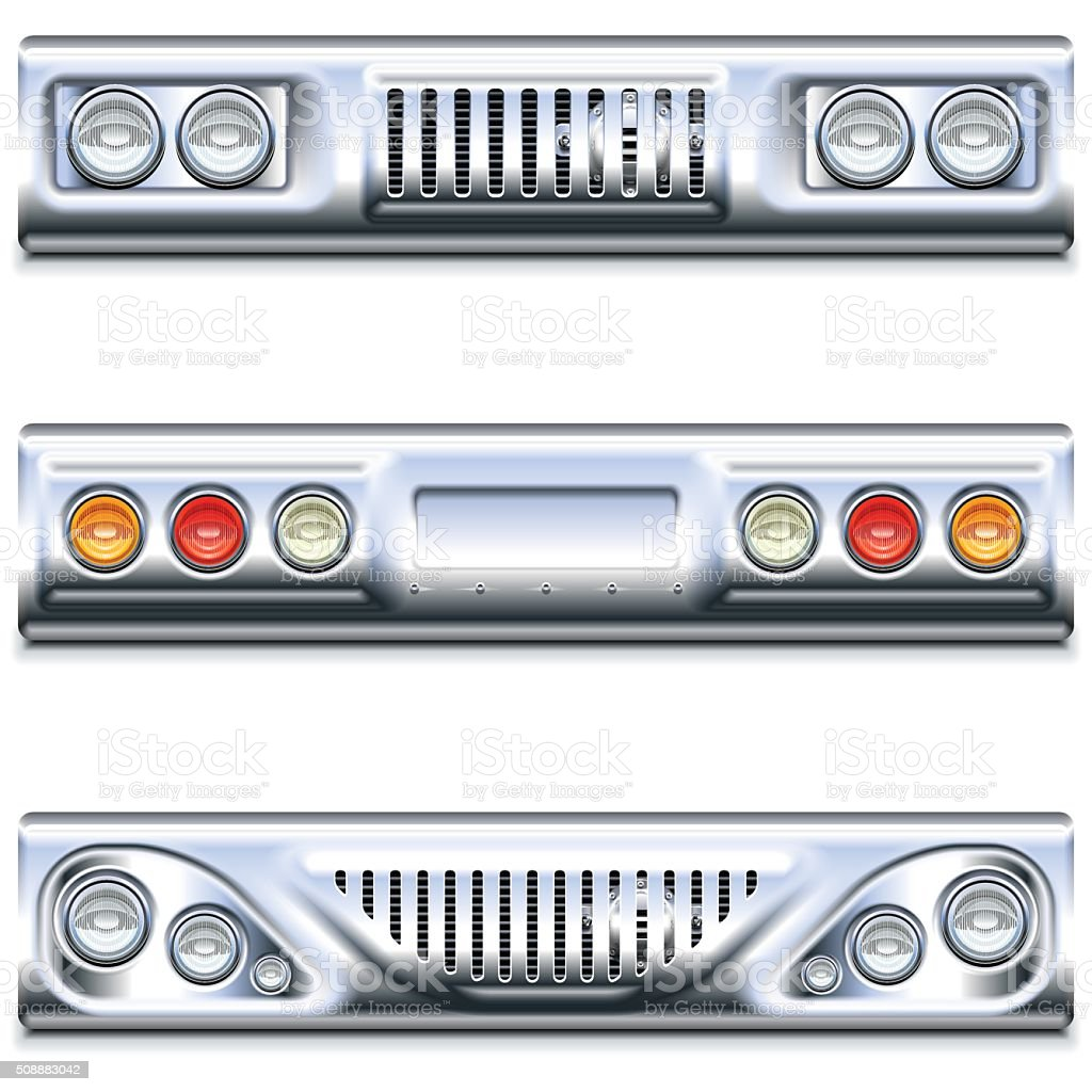 Vector Front and Rear Car Part vector art illustration