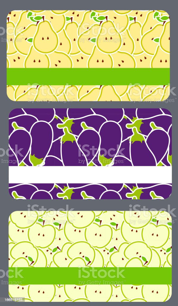 Vector fruit business cards set royalty-free stock vector art