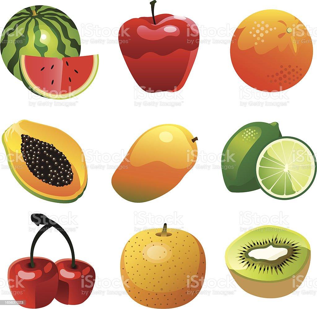 Vector Fruit Collection vector art illustration