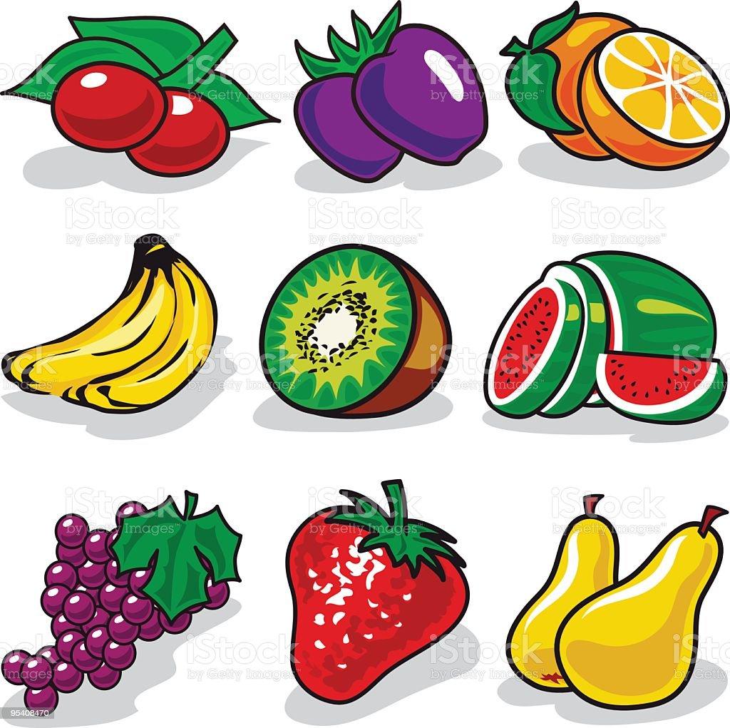 Vector fruits set royalty-free stock vector art