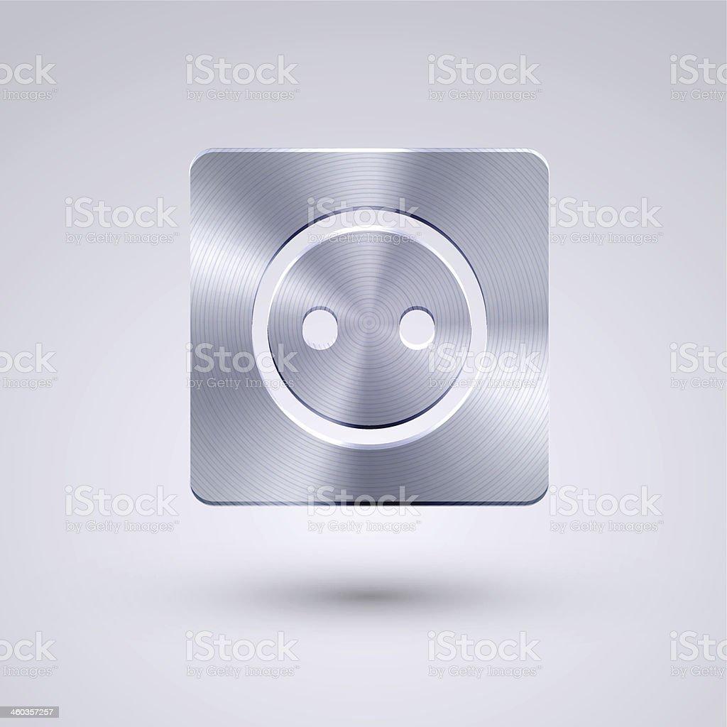 Vector full metal icon on blue background. Eps10 vector art illustration