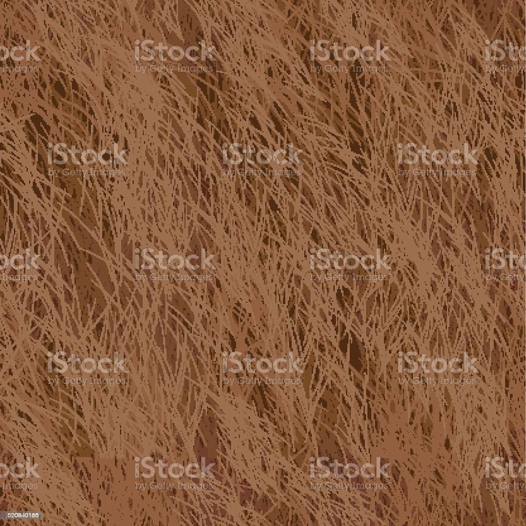 Vector Fur Seamless Pattern. Brown Background. vector art illustration
