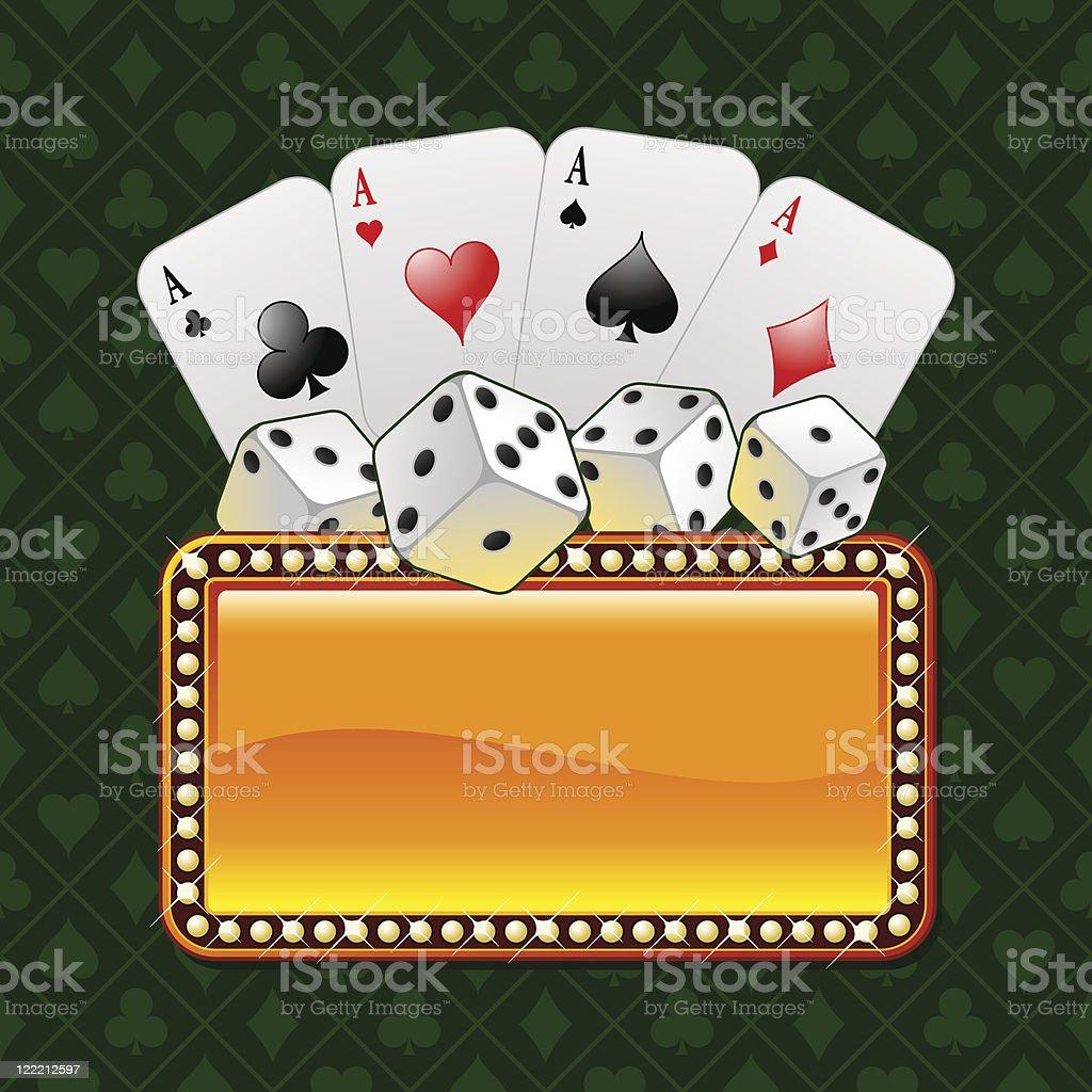 Vector gambling composition royalty-free stock vector art