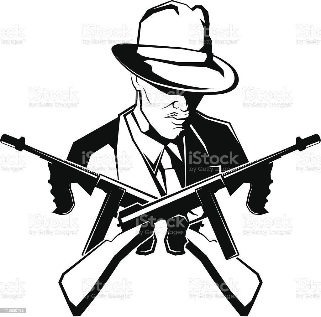 vector gangster royalty-free stock vector art