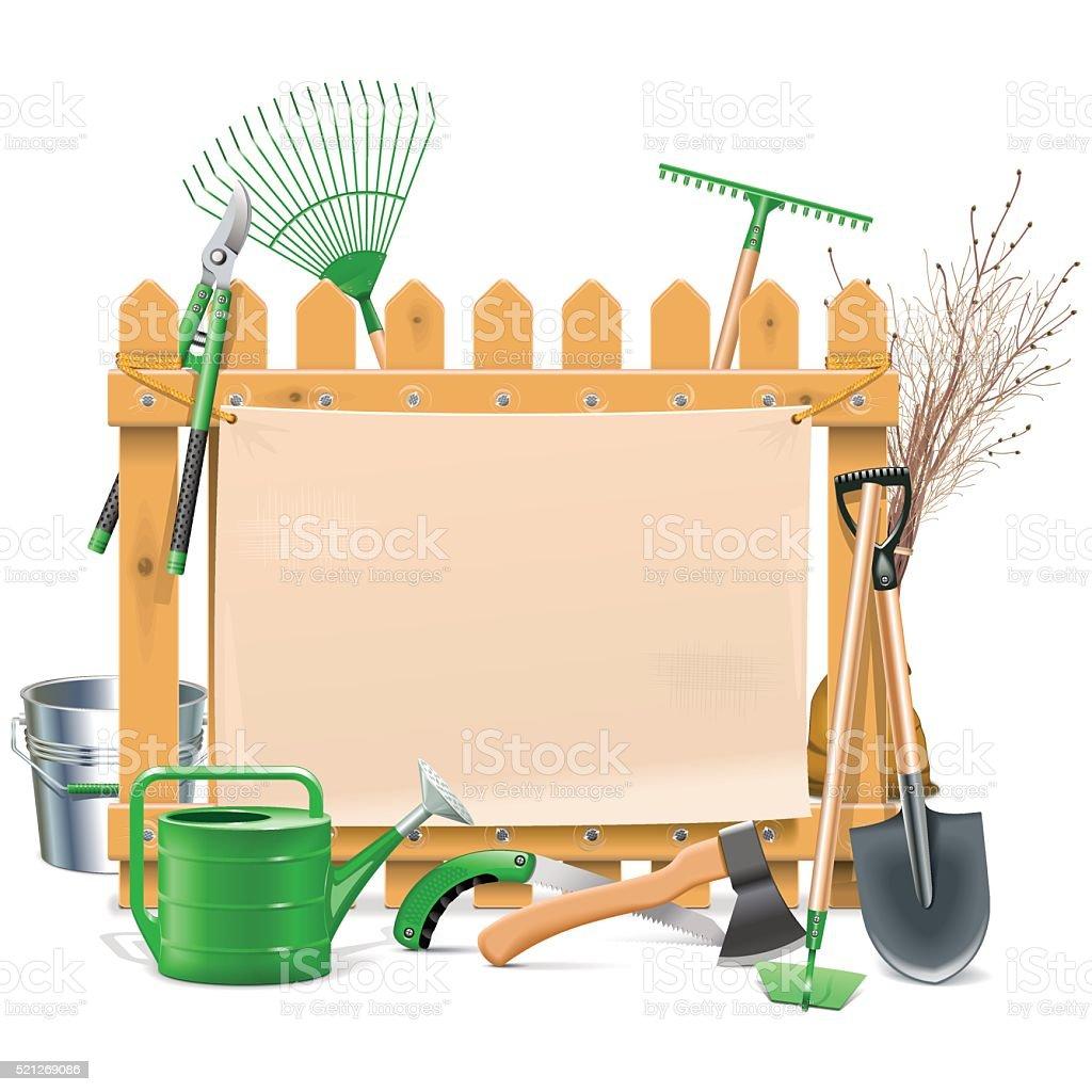 Vector Garden Board vector art illustration