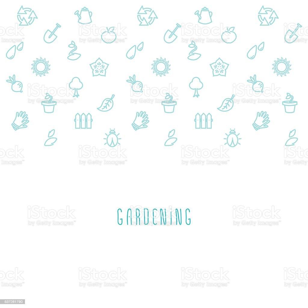 Vector gardening eco background vector art illustration